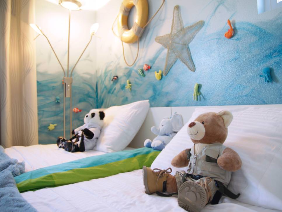 Light Blue Ocean-Themed Kid's Bedroom
