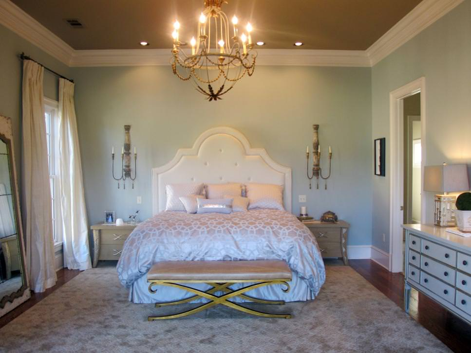 Light Blue Traditional Bedroom design