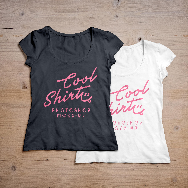 women t shirt mockup