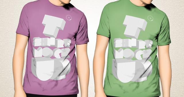 T-shirt Mockup Template PSD