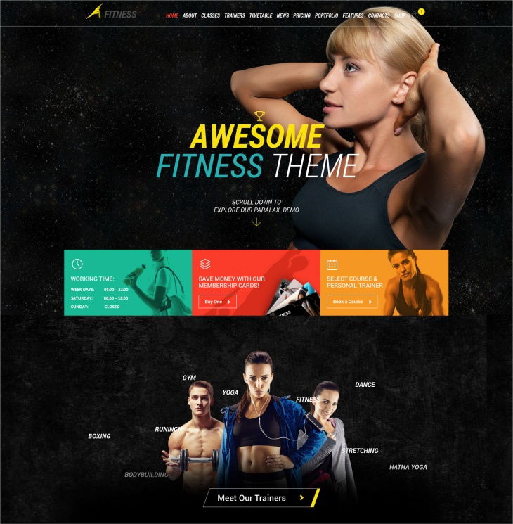 Fitness Sport Gym Theme