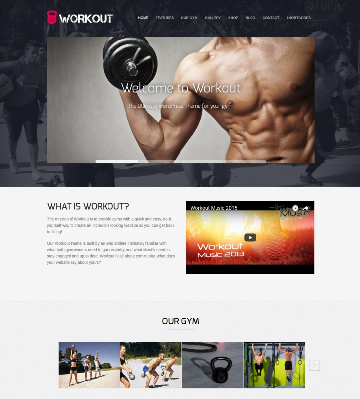 Responsive Workout Gym Theme