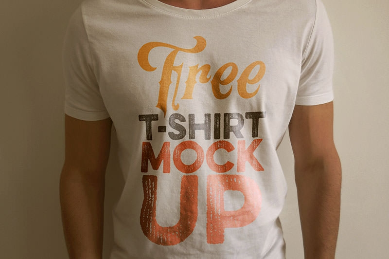 realistic t shirt mockup