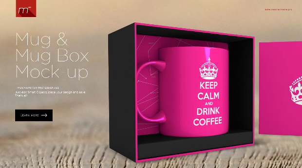 Mug and Mug Box Mock Up