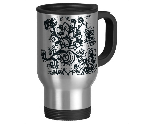 Beautiful Flower Mug Mock Up