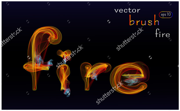 Vector Fire Brush Collection psd Download