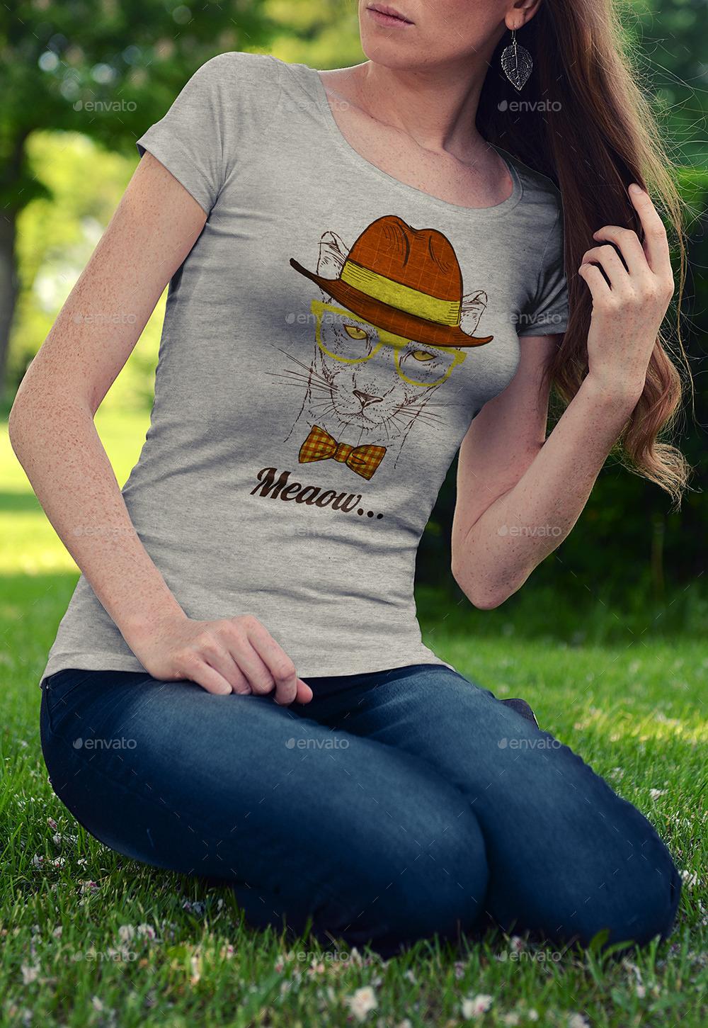 photorealistic t shirt mockup