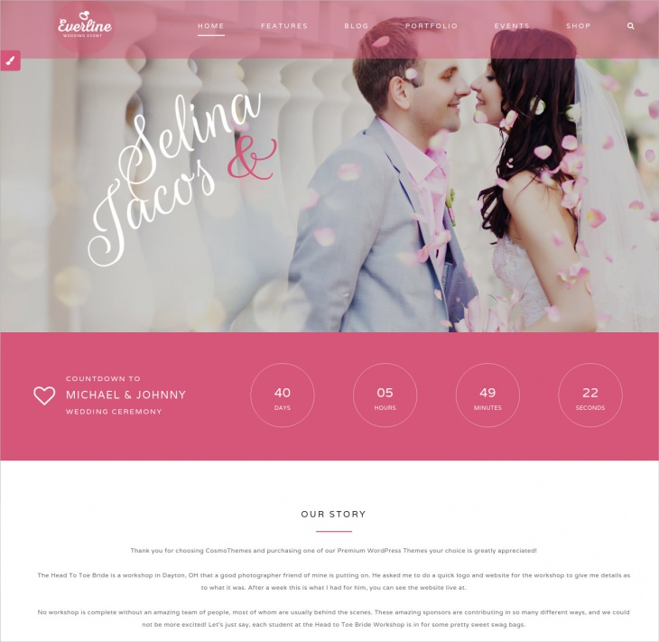 Everline Wedding WordPress Theme