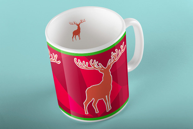 Mug Mock Up for Christmas