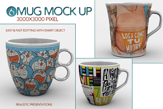 Realistic Mug Mock Up
