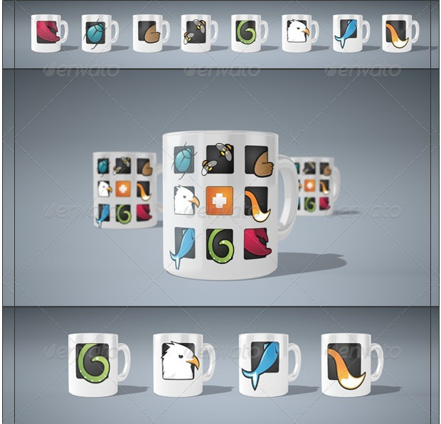 Mug Mock Ups with Editable Backgrounds