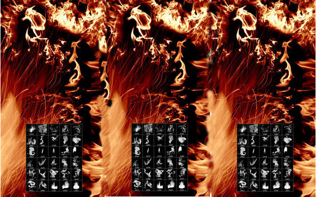 45+ Set of Fire Brushes Download