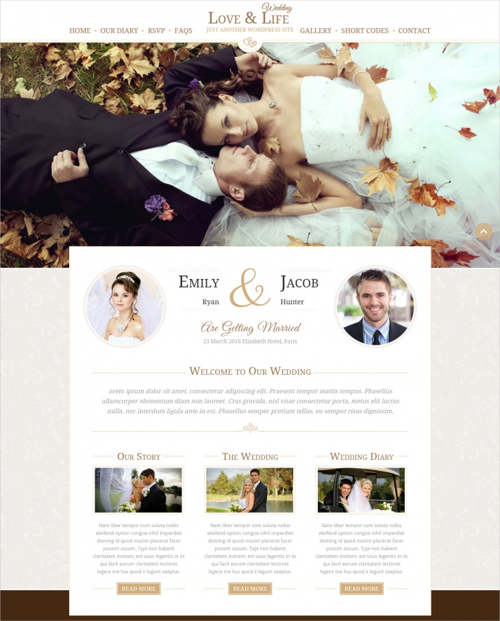 love life wedding wp theme