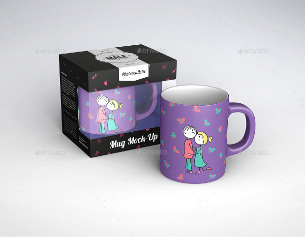Realistic Cute Mug Mock Up