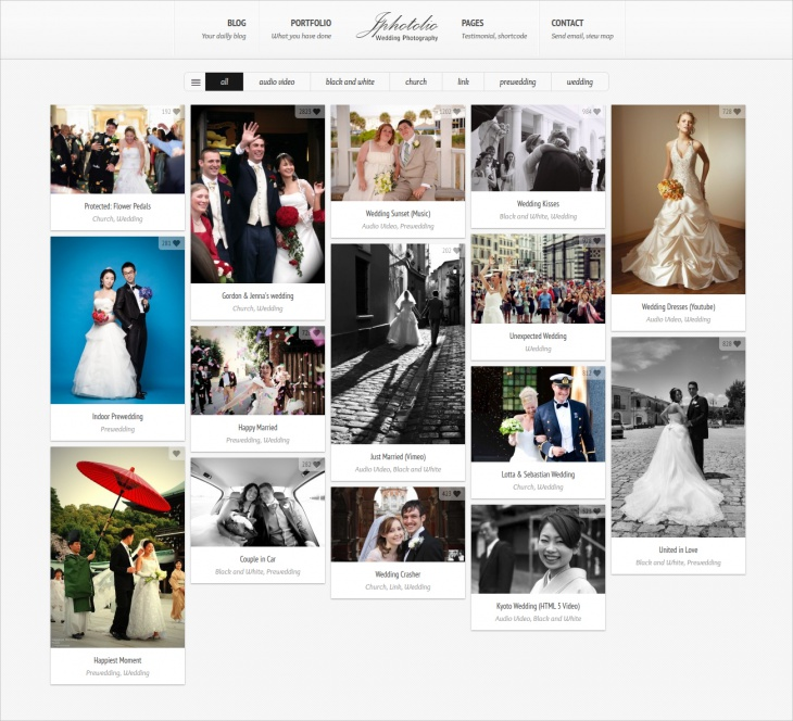 Wedding Photography WP Theme