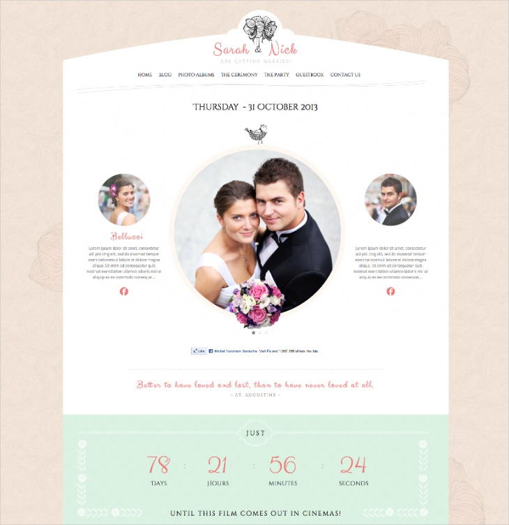 responsive wedding planner theme