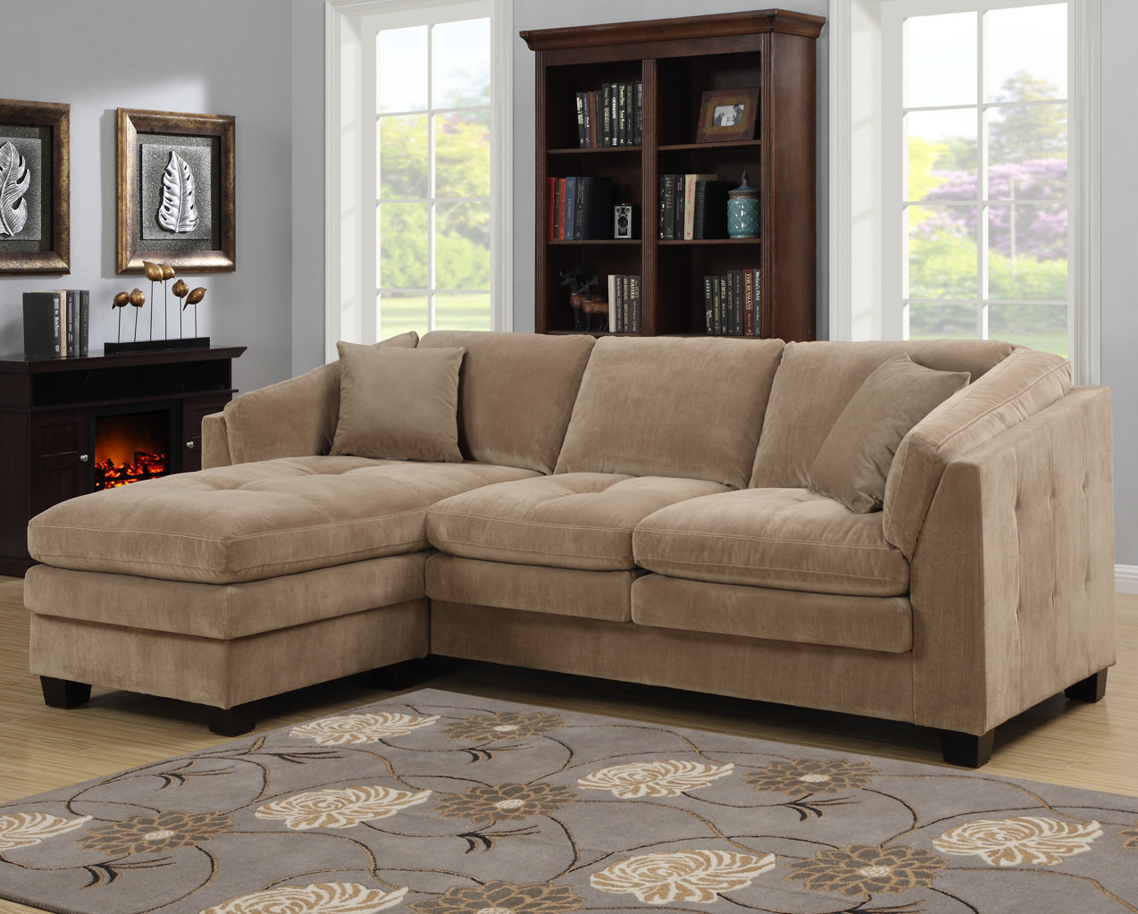 Microfiber Modular Sectional Sofa
