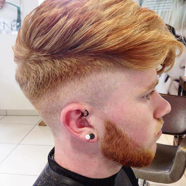 skin faded pompadour haircut design