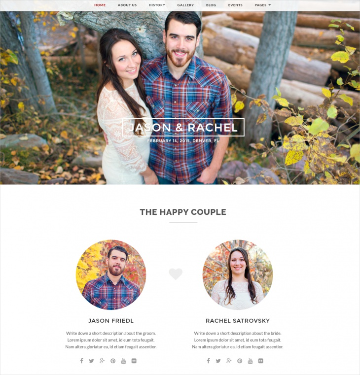 Merit Responsive Wedding Theme