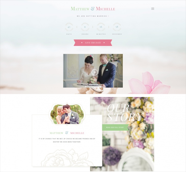 elegant wordpress wedding theme
