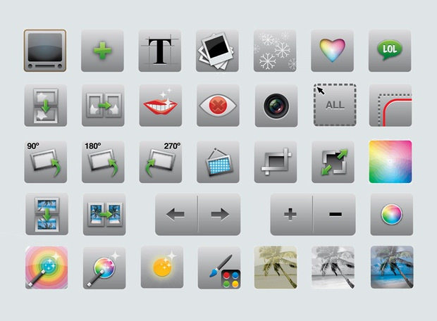 3d editing icons
