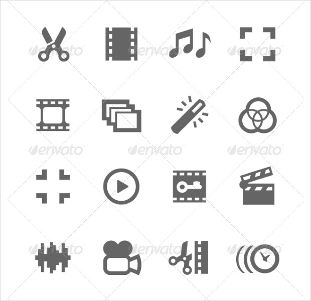 video trimmer and other editable icons