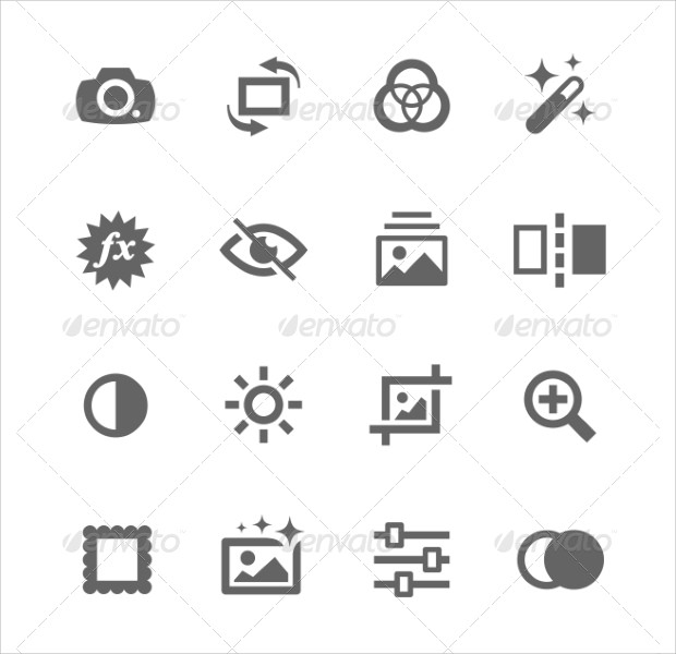 simple collection of image editing icons