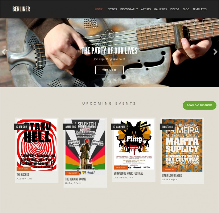 WordPress Music Theme for Musician