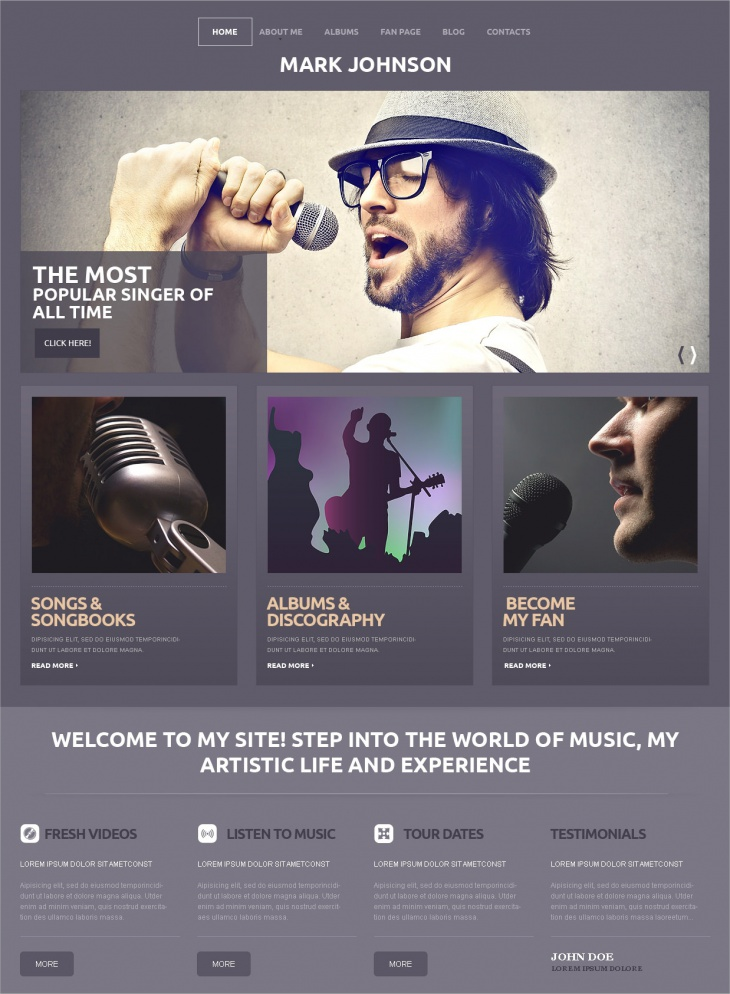 WordPress Music Artist Theme