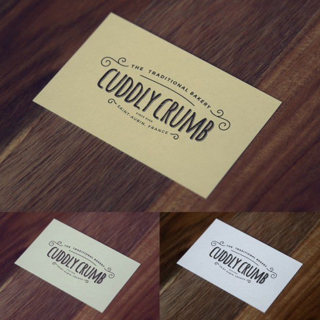 Awesome Vintage Business Card Mockup