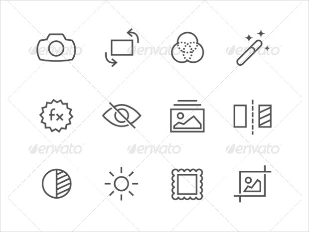 photography editing icons