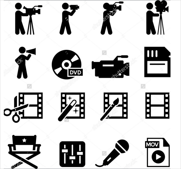 Movie and film Digitial Editing icons