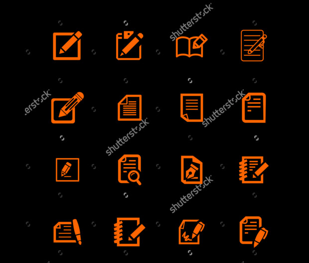 high resolution and several sizes editing icons