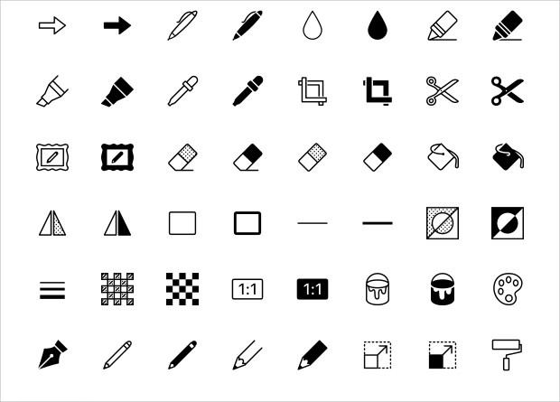 Set of ISO Image Editing Icons