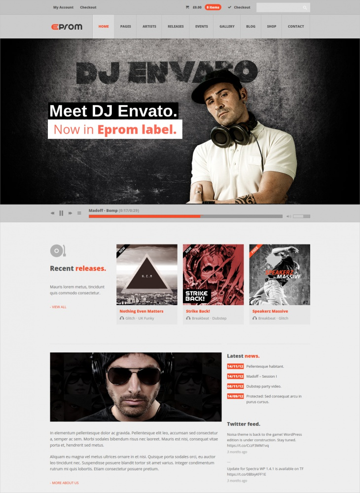 Eprom WordPress Music Theme