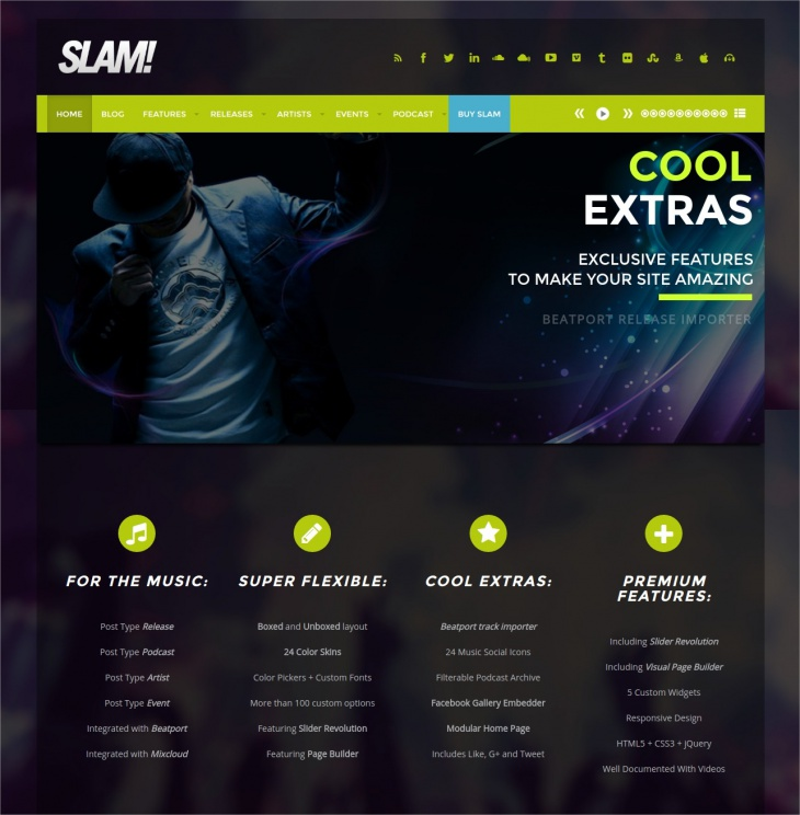 Musician & Dj WordPress Theme