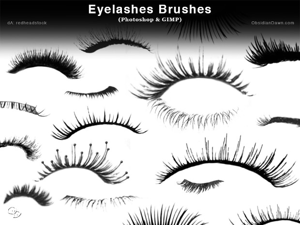 eyelash brushes for photoshop gimp