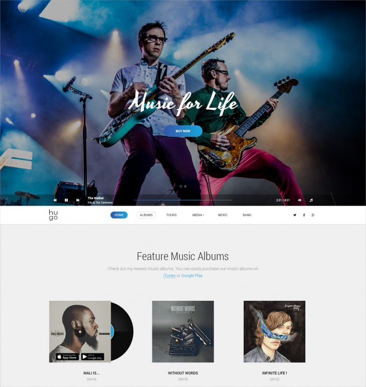 Singers & Band WP Theme