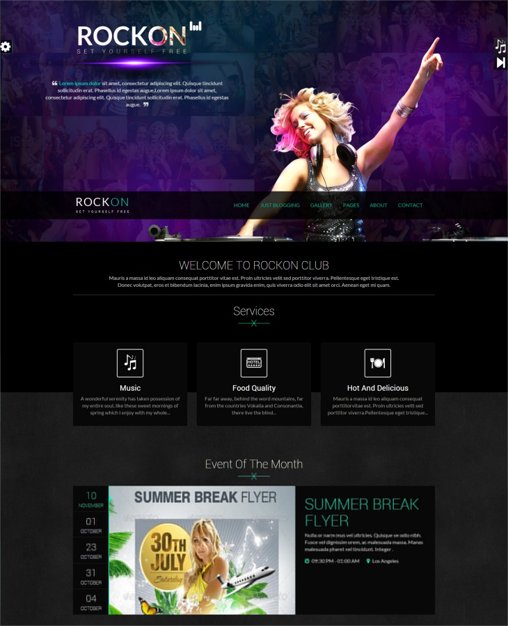 music club responsive wp theme