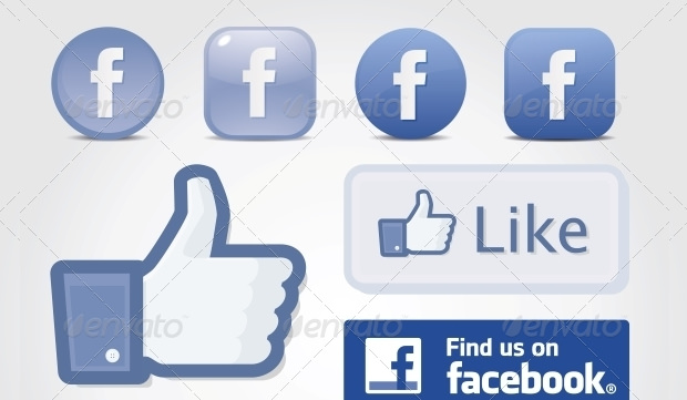 sample facebook like button