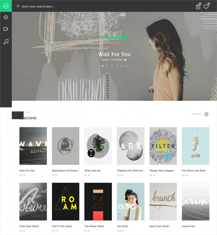 music web app wordpress theme