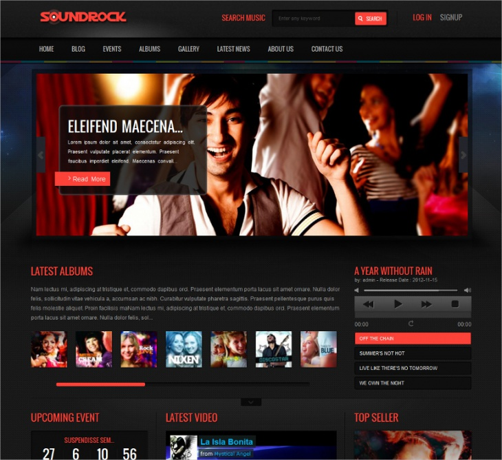 Responsive Music Band Theme