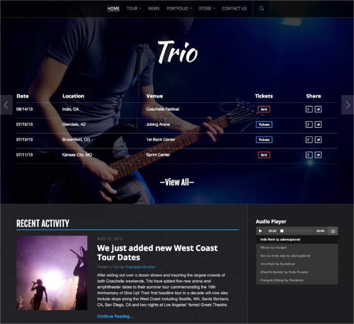 responsive band wp theme