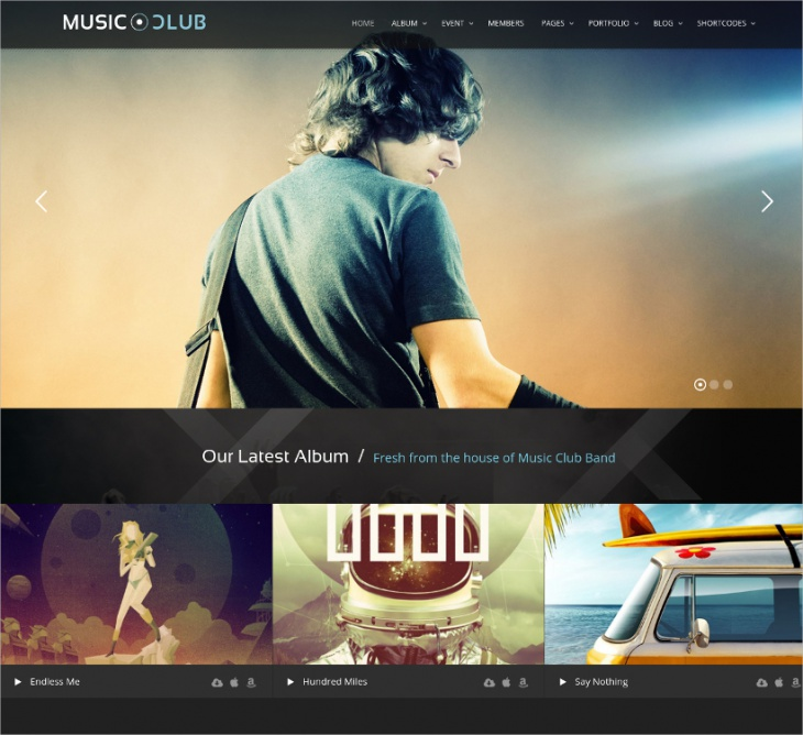 modern music club wordpress theme