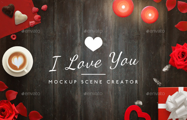 Love Sence Greeting Mock up