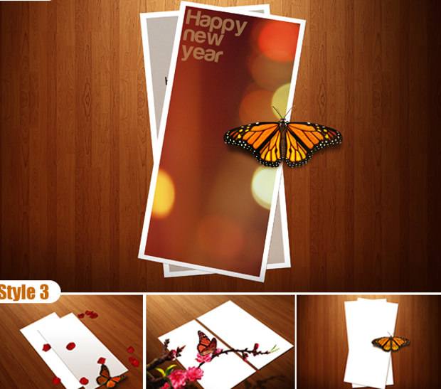 New Year Greeting Card Mock up