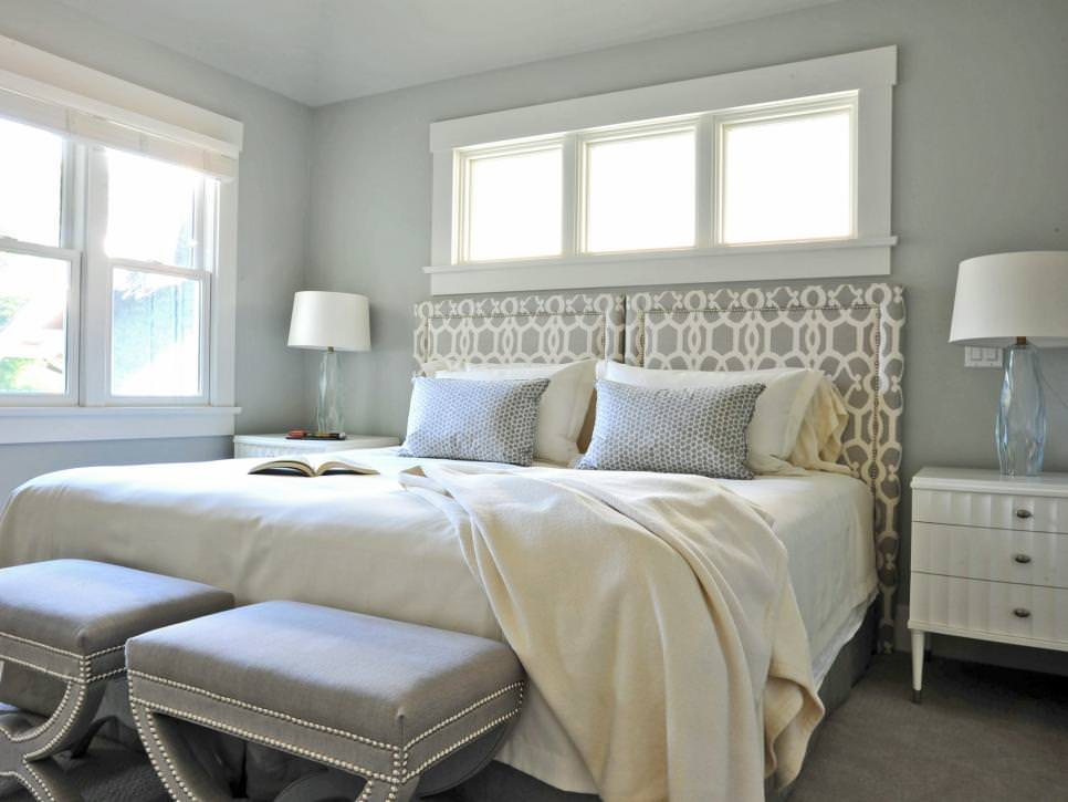 Transitional Bedroom With Soft Gray design