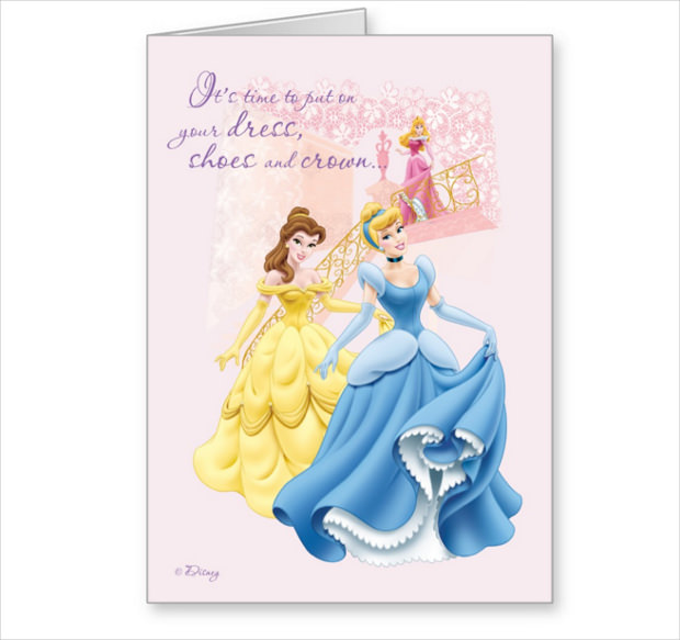 Greeting Mock up for Beautiful Princess