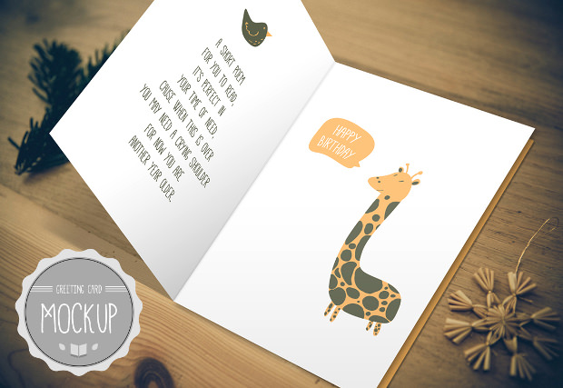 Different Mock ups for Greeting Cards