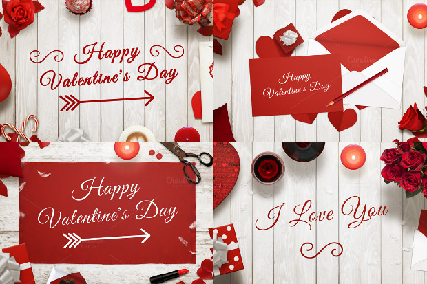 greeting card mock ups for valenines